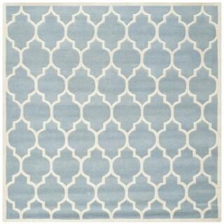 "Safavieh Handmade Moroccan Blue Wool Latex Rug (8'9"" Square)"