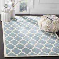 Safavieh Handmade Moroccan Blue Wool Latex Rug - 8'9 Square