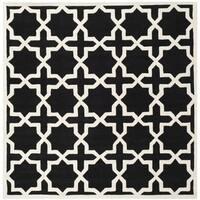 Safavieh Chatham Black Handmade Moroccan Wool Area Rug - 8'9 Square