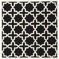 Safavieh Handmade Moroccan Black Cross Pattern Wool Rug - 7' Square