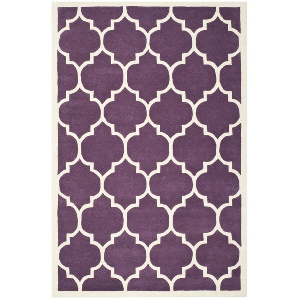 Safavieh Handmade Moroccan Purple Wool Rug with Dense Pile (8' x 10')