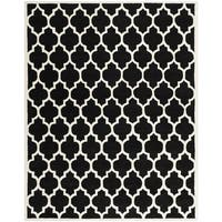 Safavieh Handmade Moroccan Rectangular Black Wool Rug - 8' x 10'