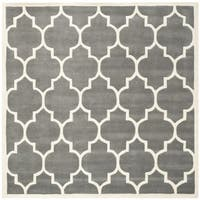Safavieh Handmade Moroccan Dark Grey Indoor Wool Rug - 8'9 Square
