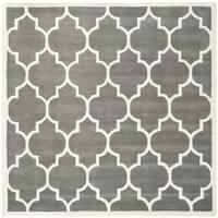 Safavieh Modern Handmade Moroccan Dark Grey Wool Rug - 7' x 7' Square