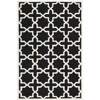Safavieh Handmade Moroccan Black Cross Pattern Wool Rug - 5' x 8'
