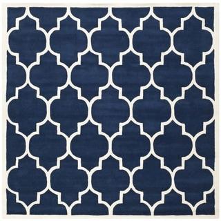 Safavieh Handmade Moroccan Dark Blue Pure Wool Rug (7' Square)