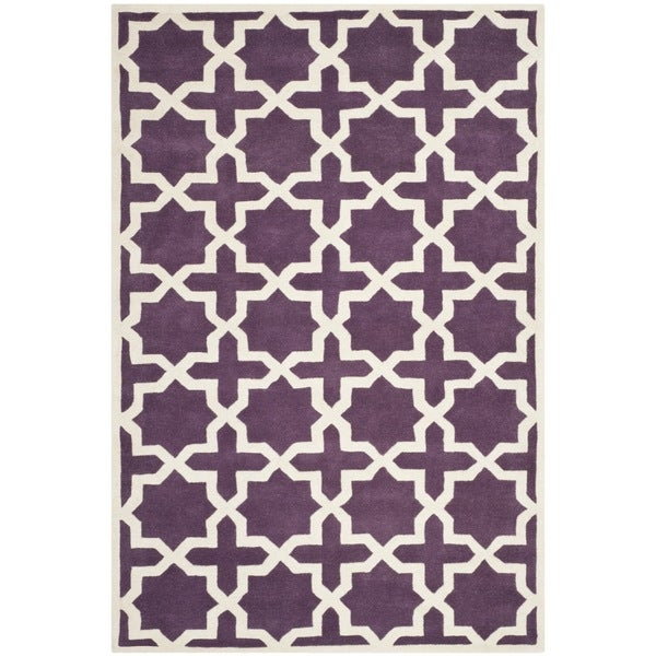 Safavieh Handmade Moroccan Purple Wool Area Rug - 8' x 10'
