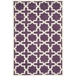 Safavieh Handmade Moroccan Purple Wool Rug (5' x 8')
