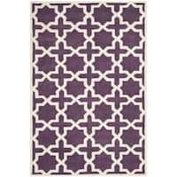 Safavieh Handmade Moroccan Purple Wool Rug - 5' x 8'