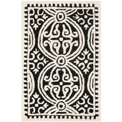 Safavieh Handmade Cambridge Moroccan Black/ Ivory Rug (2'6 x 4')