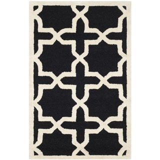 Small Safavieh Handmade Moroccan Cambridge Black Wool Rug (3' x 5')