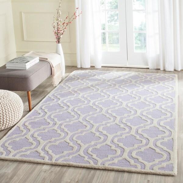 Safavieh Handmade Moroccan Cambridge Lavender Rectangular Wool Rug - 5' x 8'