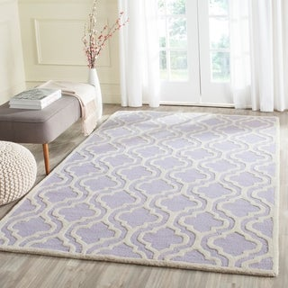 Safavieh Handmade Moroccan Cambridge Lavender Rectangular Wool Rug (5' x 8')