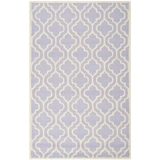 Safavieh Handmade Cambridge Moroccan Lavender Latex Wool Rug (9' x 12')