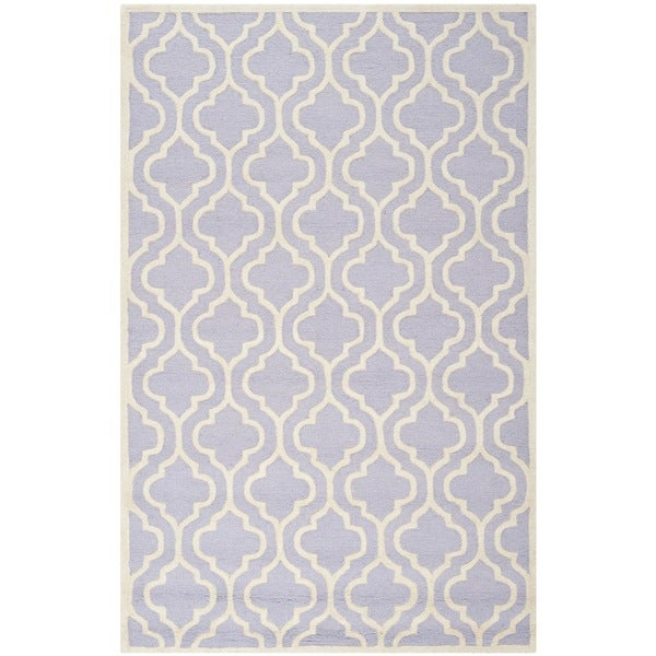 Safavieh Handmade Cambridge Moroccan Lavender Latex Wool Rug - 9' x 12'