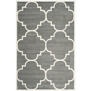 Safavieh Handmade Moroccan Chatham Contemporary Dark Gray Wool Rug (4' x 6')