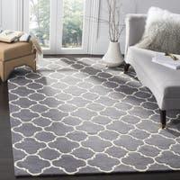 Safavieh Handmade Moroccan Dark Grey Wool Area Rug - 7' x 7' Square