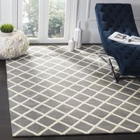 Safavieh Handmade Moroccan Chatham Dark Grey Wool Area Rug - 7' x 7' Square