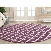 Safavieh Handmade Moroccan Purple Wool Area Rug - 7' Round