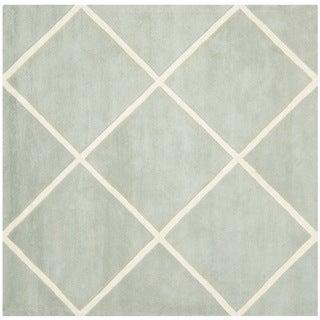 Safavieh Handmade Moroccan Diamond Pattern Grey Indoor Wool Rug (7' Square)