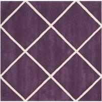 Safavieh Handmade Moroccan Purple Diamond Pattern Wool Rug - 7' Square