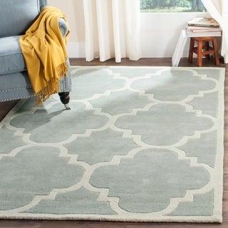 Safavieh Handmade Moroccan Grey Pure Wool Rug (4' x 6')