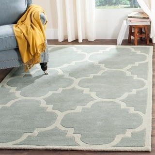 Safavieh Handmade Moroccan Grey Wool Rug with Cotton Canvas Backing (6' x 9')