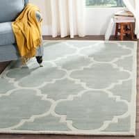 Safavieh Handmade Moroccan Grey Wool Rug with Cotton Canvas Backing - 6' x 9'