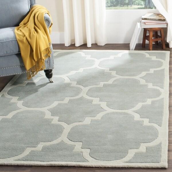 Safavieh Handmade Moroccan Chatham Grey Wool Area Rug - 8' x 10'