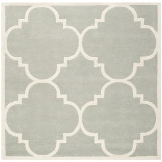 "Safavieh Handmade Moroccan Dense Gray Wool Rug (8'9"" Square)"
