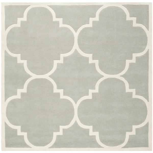 "Safavieh Handmade Moroccan Dense Grey Wool Rug (8'9"" Square)"