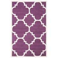 Safavieh Handmade Moroccan Purple Wool Indoor Rug - 6' x 9'