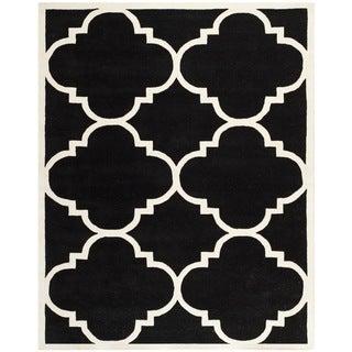 Safavieh Handmade Moroccan Chatham Black Wool Rug (8' x 10')