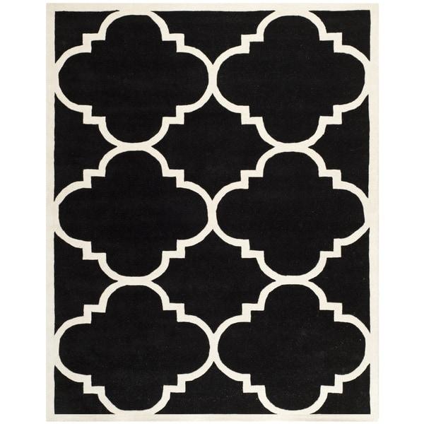 Safavieh Handmade Moroccan Chatham Black Wool Rug - 8' x 10'