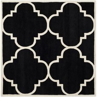 Safavieh Handmade Moroccan Chatham Black Wool Rug (8'9 Square)