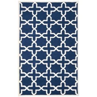 Safavieh Handmade Moroccan Dark Blue Wool Indoor Rug (4' x 6')