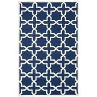 Safavieh Handmade Moroccan Dark Blue Wool Indoor Rug - 4' x 6'