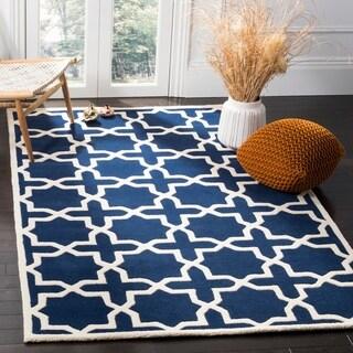 Safavieh Handmade Moroccan Chatham Dark Blue Geometric Wool Rug (8' x 10')