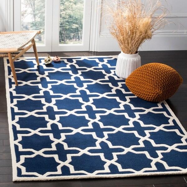 Safavieh Handmade Moroccan Chatham Dark Blue Geometric Wool Rug - 8' x 10'