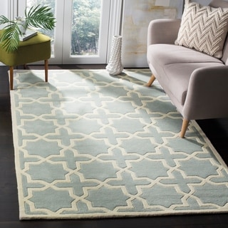 Safavieh Handmade Moroccan Chatham Grey Wool Geometric Rug (8' x 10')