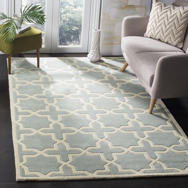 Safavieh Handmade Moroccan Chatham Grey Wool Geometric Rug (8' x 10') - 8' x 10'