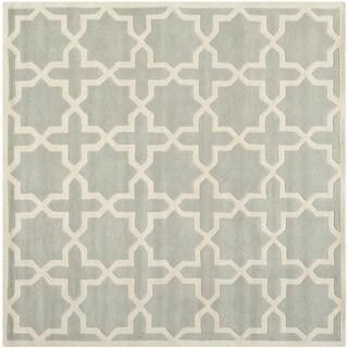 "Safavieh Handmade Moroccan Gray Wool Cross-Pattern Rug (8'9"" Square)"