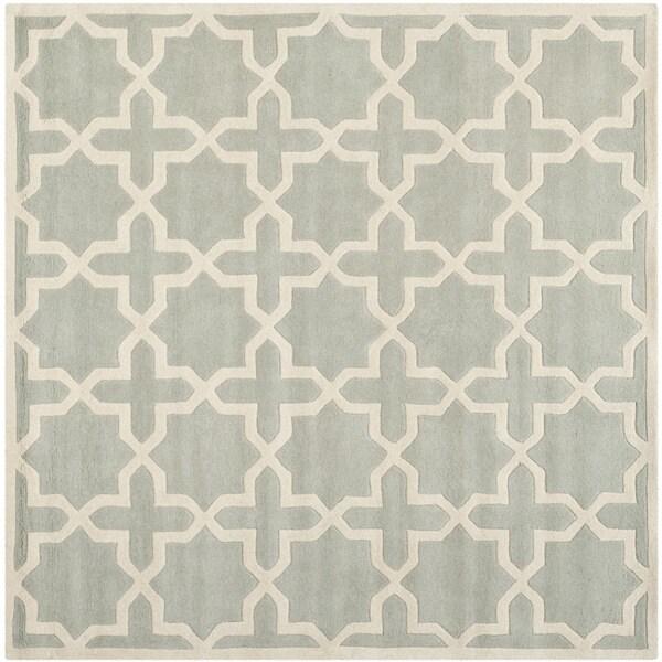 Safavieh Handmade Moroccan Grey Wool Cross-Pattern Rug (8