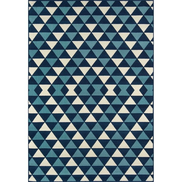 Momeni Baja Kaleidoscope Blue Indoor/Outdoor Area Rug (7