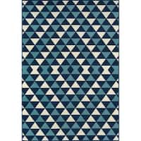 "Momeni Baja Kaleidoscope Blue Indoor/Outdoor Area Rug - 7'10"" x 10'10"""