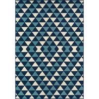 "Momeni Baja Kaleidoscope Blue Indoor/Outdoor Area Rug - 2'3"" x 4'6"""