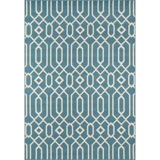 Momeni Baja Links Blue Indoor/Outdoor Area Rug (8'6 x 13')