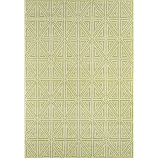 "Momeni Baja Diamonds Green Indoor/Outdoor Area Rug - 8'6"" x 13'"