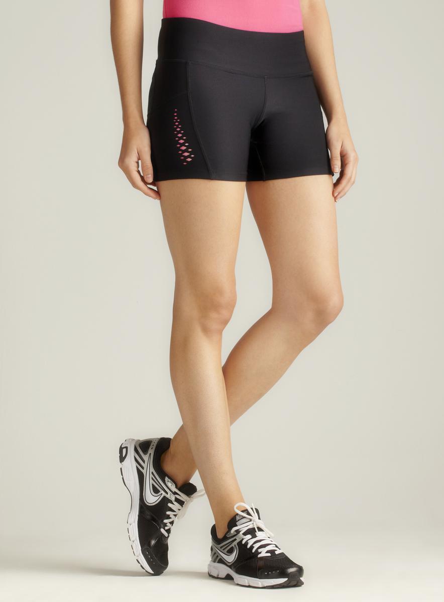 Spalding Black Speed Dri Bike Shorts