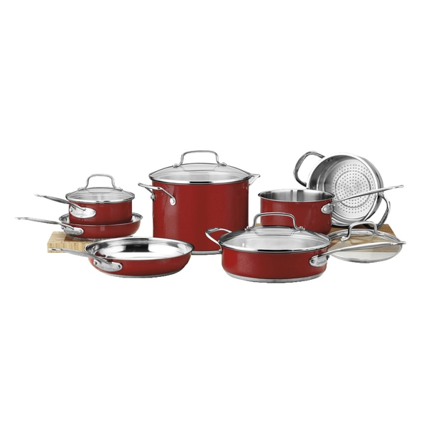 Cuisinart Chef's Classic Stainless Color Series 11-Piece Set - Red